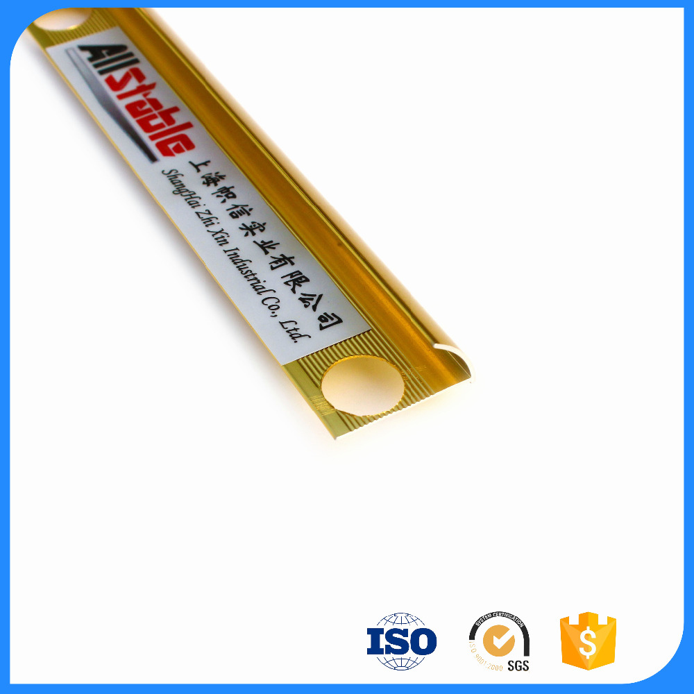 Aluminum Gold Metal Edge Trim For Paneling Threshold Molding