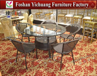 Strong Rattan Outdoor Table and chair Wholesale YC-R01