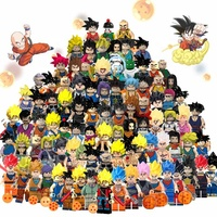 legoingsly dragon ball z Vegeta Goku Trunks Building Blocks Chiildren action Figure mini toys child juguetes