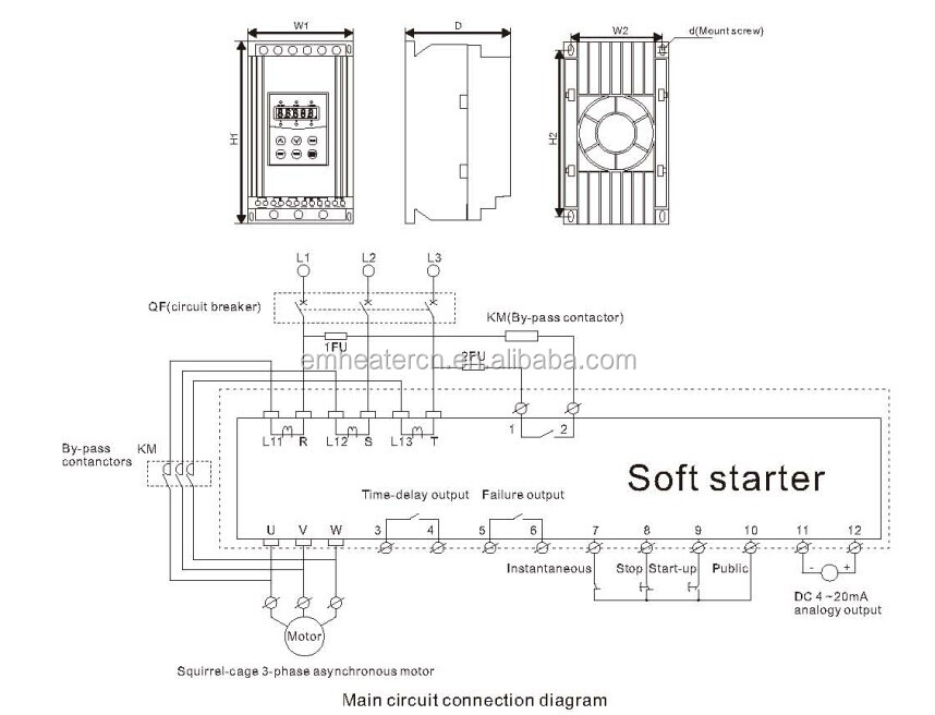 3 phase soft start for ac compressor 3 wiring diagram and circuit schematic