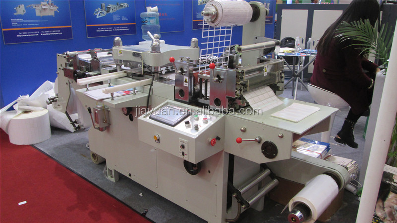 Hot foil stamping and die cutting machine for label sticker