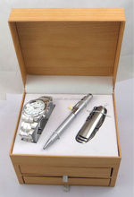 2014 Innovative men's watch gift set with pen knife and wallet