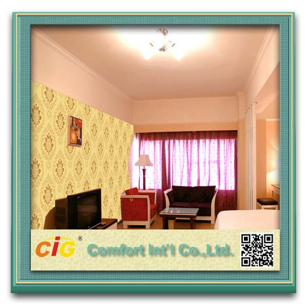 2015 Fashion New Design Non-woven Wallpaper/Wall Cloth/3d Wall Covering Fabric