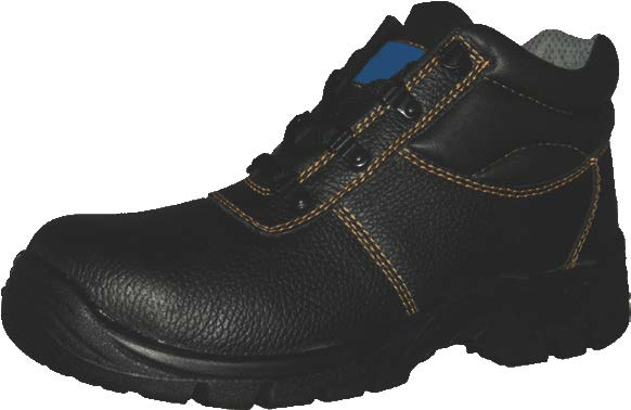 Black steel toe boots for mens long safety shoes bulk work boots