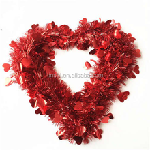 Hanging heart shape garland for wedding party decorations