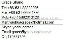 glass curtain wall /shop front glass /sliding door glass (EN12150 CCC)