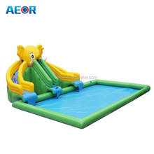 Large inflatable water slide with pool/used inflatabe pool park on sale/inflatable water/aqua game/ park