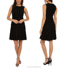 OEM service supply wholesale type China factory black vestidos casual A line women office dress