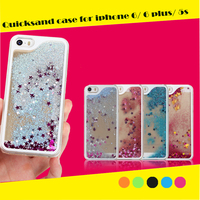 3D Liquid Star Quicksand Hard PC Back Shell Phone Case for iphone 5s case