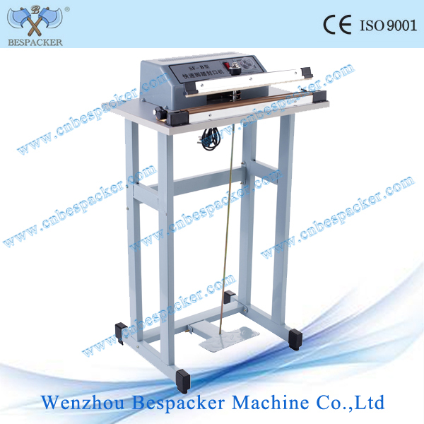 induction foot heat plastic bag sealer with cutter