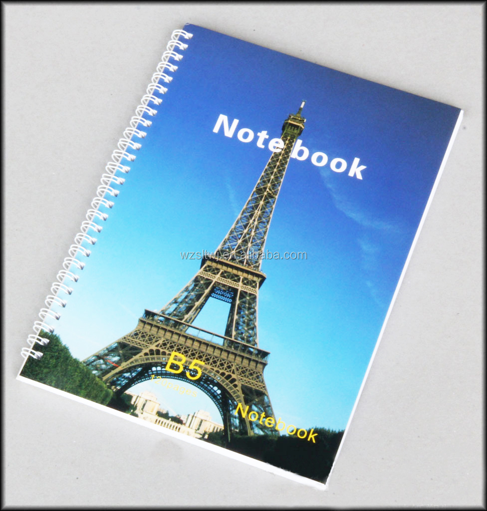 beautiful fashion school hard cover spiral notebook for girl Hardcover notebook