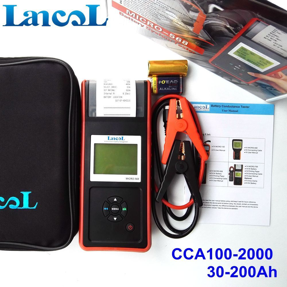LANCOL MICRO-568 Battery Tester Print/ Car Diagnostic Tool
