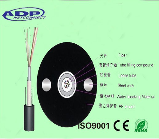 Hot-selling Outdoor Central Tube Fiber Optic Cable GYXTW 2-24 cores