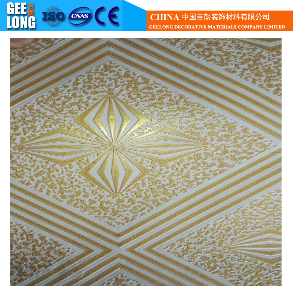 Professional and largest pvc film factory and pvc coated gypsum celing tiles