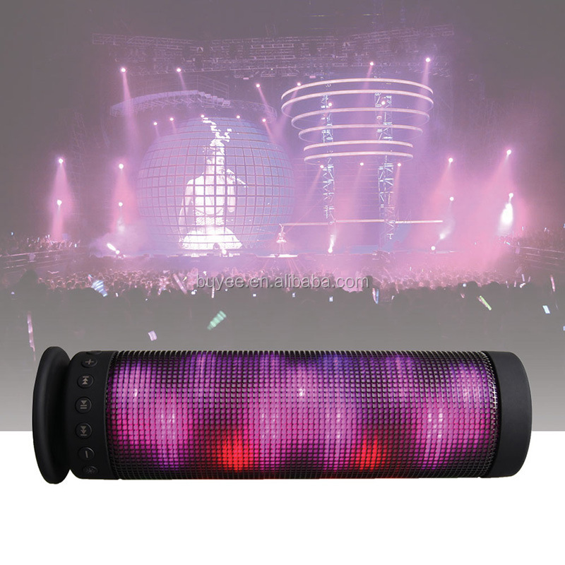 China factory price cheap music mini woofer speaker with bluetooth with led light
