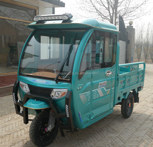 Wholesale Three Wheel Electric Tricycle Closed Cabin Express Electric Tricycle