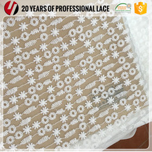 White Poly Dress Net Bridal Indian Embroidery Lace Fabric With Hole