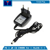 6W black 90-254v ac Power Adapter 5V1.2A EU Plug 5V wall adaptor cb CE tuv gs sgs approved