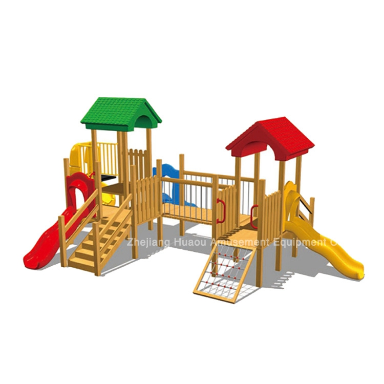 Professional Wooden Playground Equipment, Children slide, children play area equipment