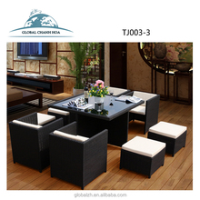 Home Cheap Outdoor Furniture Wholesale Pe Rattan Wicker Dining Outdoor Furniture For Coffee Shop And Patio
