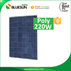 Hot sell 156cell poly high watt power solar panel 220w poly from Bluesun factory