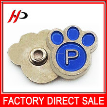 Wholesale nickel free cute day paw shaped alloy metal custom rivet with logo