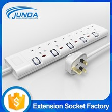 Wholesale high quality ul listed 5 outlets power strip multi pin switch bs socket