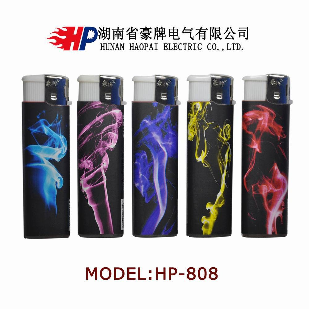 Cheap Cigarette Disposable Electronic Gas lighter with Beautiful Paper