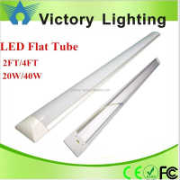 led flat tube 600mm 1200mm 20w 40w led linear fixture