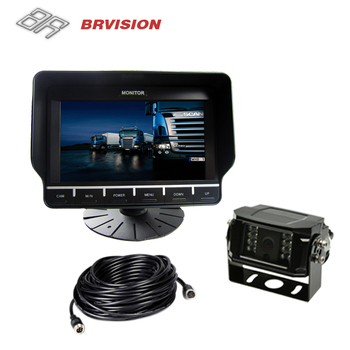 4P lock Connector Touch Button Monitor and Waterproof Camera for Truck
