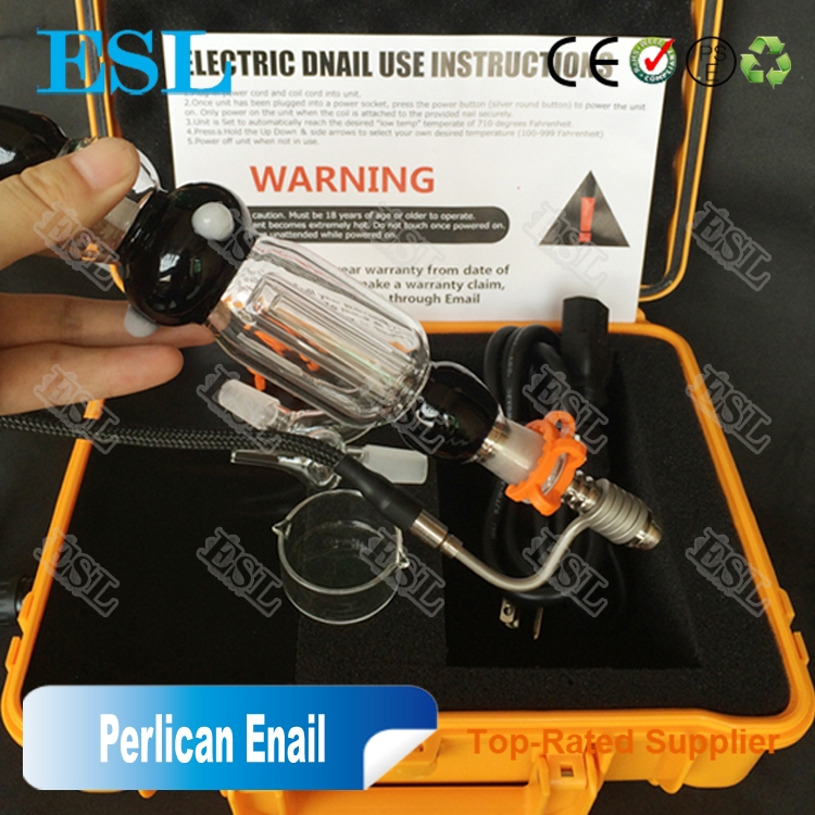 Revolutionary design wax dry herb vaporizer most popular Aluminium box e-nail for dabs enail peli case
