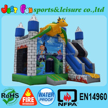 cheap jumping inflatable dragon den bouncy castle for sale