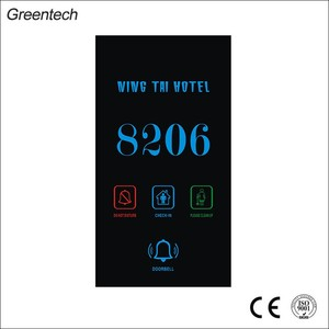 Hotel Vertical Electronic Doorplate Room Number Plates