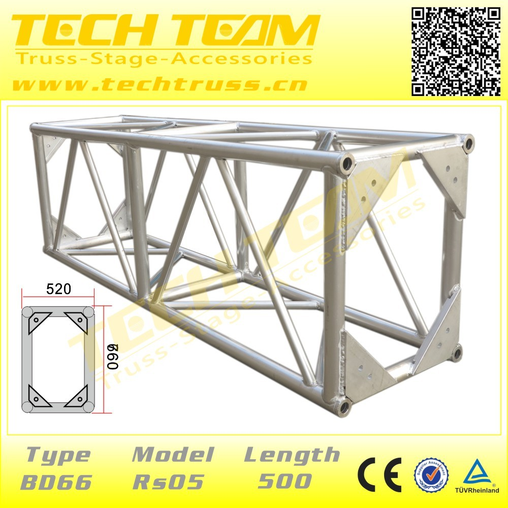 Main tubes Diameter 50*4mm,Size 470*610mm Color Black Studio Truss