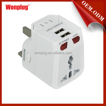 Free Samples New Zealand 3 Pin Plug 2 Port USB Travel Charger