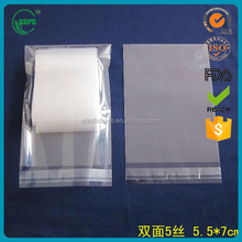 transparent raw materials for cheap custom wholesale packaging biodegradable plastic clear bopp bag