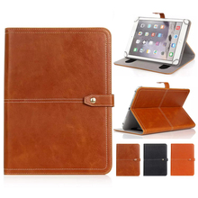 For 7-10 inch Universal Crazy Horse PU Leather Stand Case Tablet Flip Cover