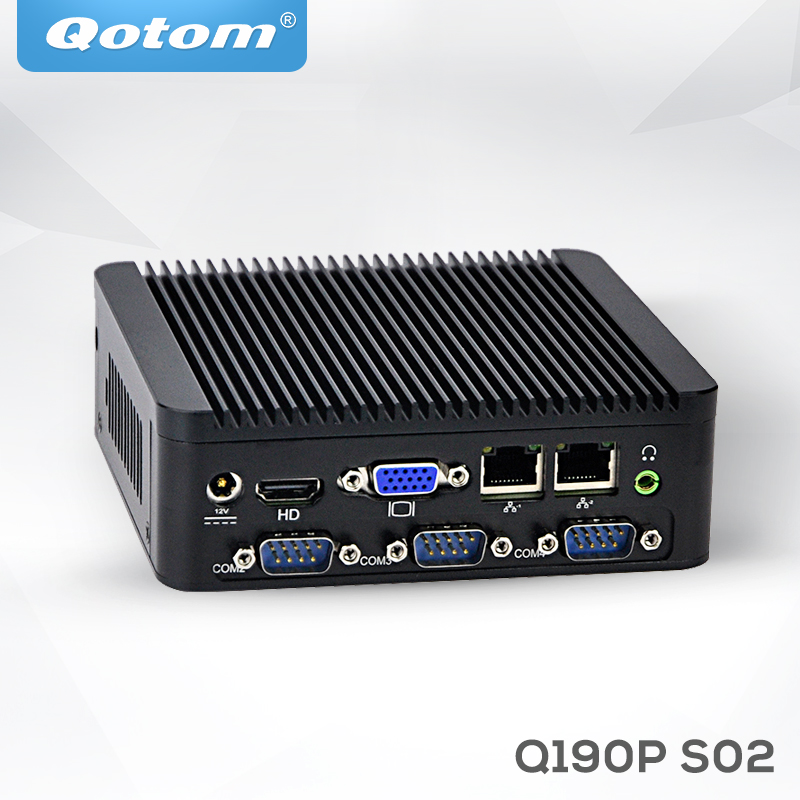 2017 Linux pfsense PC Low Cost Fanless Embedded Barebone Mini Industries with RS232 J1900 Quad Core Dual Lan Industrial Mini Pc