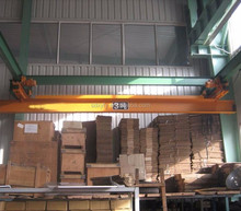 Light weight travelling LDA type single girder bridge / overhead crane 5 ton supplier