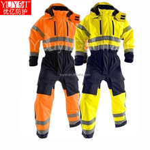 Hi vis waterproof winter man polar fleece bomberJacket with 3m Reflective Tape workwear jackets