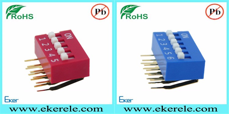 Right Angle Type SPST 8 Pin Dip Switch