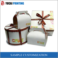Birthday cake gift paper box