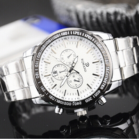 Fashion Quartz Stainless Steel Case Back Watches for Men