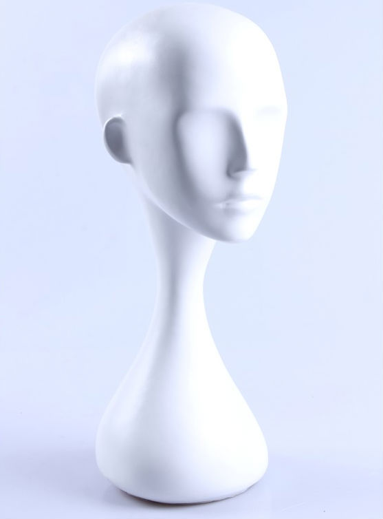 Long neck styrofoam mannequin head