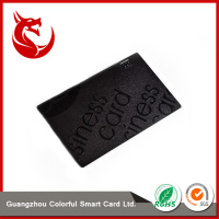Newly design laser carving super quality stainless steel brushed card