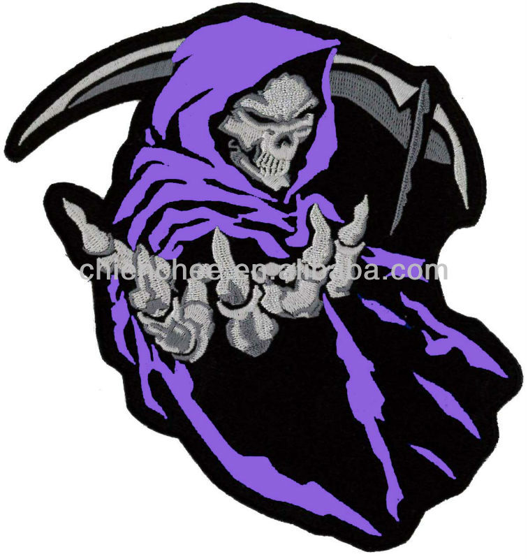 Embroidery Patches - Iron-on / PVC Colorful Grim Reapers for Jacket (Patch/Emblem/Badge/Label/Crest/Insignia)