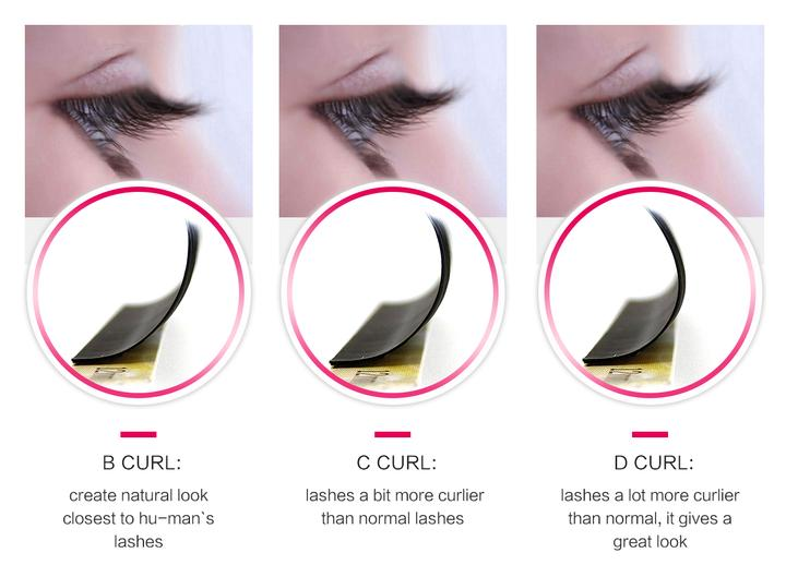 Volume Extensions Beautier Prime Silk Bulk Eyemix Ib Korea L Curl Lashes Mink Lovely Pre-made Fan Sable Eyelash Extension