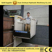 residential vertical handicap stair hydraulic wheelchair platform lift price for disabled lift people elevator