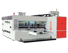 Multi-color printer slotter and die cutter machine, package machinery