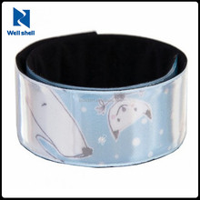 CE EN 71 EN13356 6P free custom promotional cheap Sports Halloween Printed reflective slap wrap